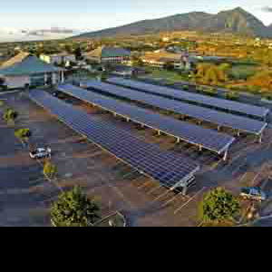 Solar arrays cover Student parking