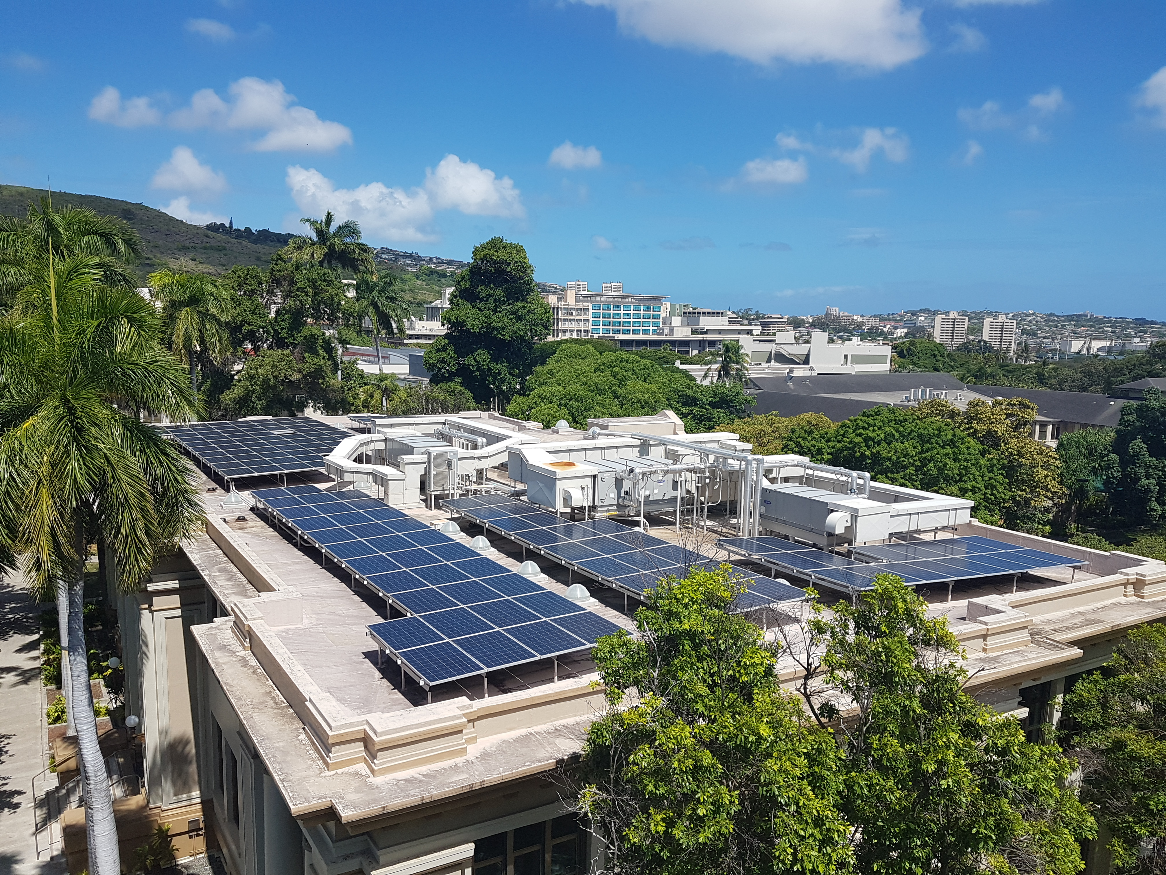 Rooftop Photovoltaic Panels On Gartley Hall