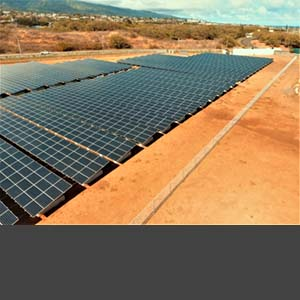 Maui College photovoltaic ballasted ground system