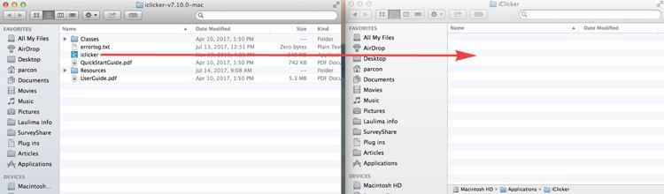 moving iclicker icon to iClicker folder