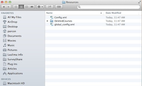 Resources folder in new iClicker folder