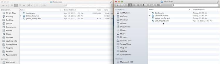 LMS_WIZARD.xml file in Resources folder in new iClicker folder