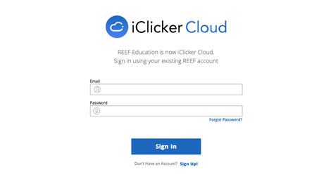 image of the iclicker cloud website