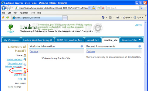 Laulima support faculty/tutorials.