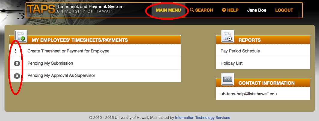 taps timesheet and payment system university of hawaii