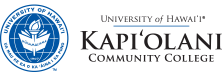 Kapiolani Community College seal and nameplate