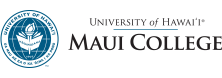U H Maui College seal and nameplate
