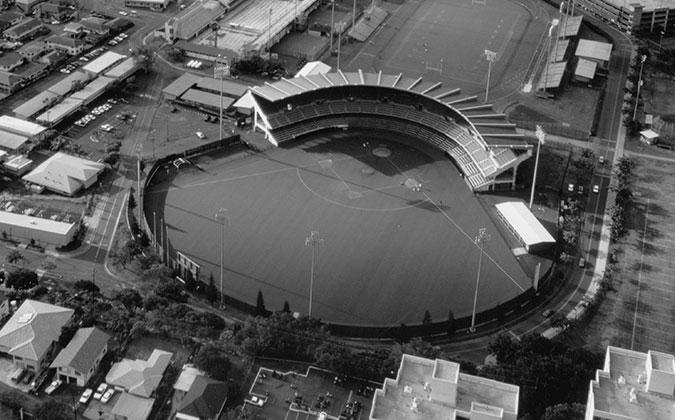 Baseball stadium field