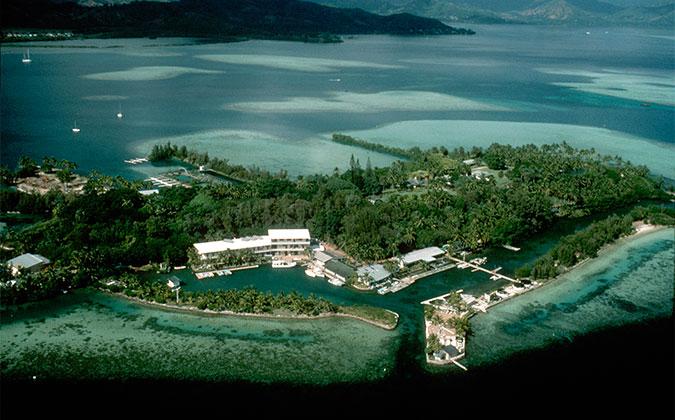 Coconut island aeria view