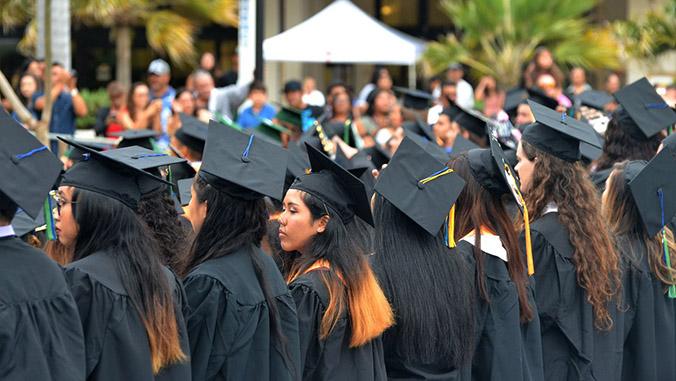 U H Maui College commencement