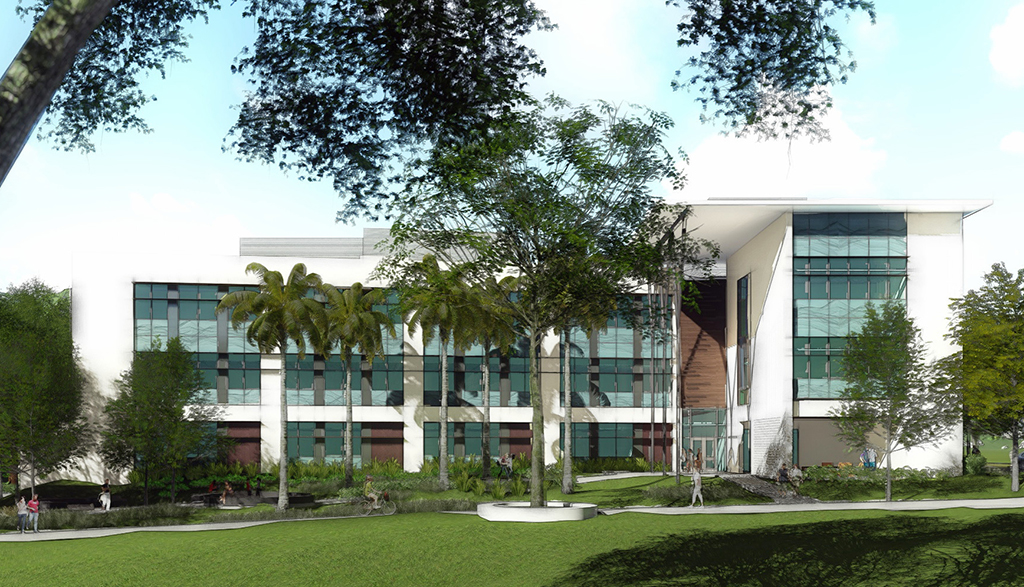 Render of the Life Sciences Building, U H Manoa