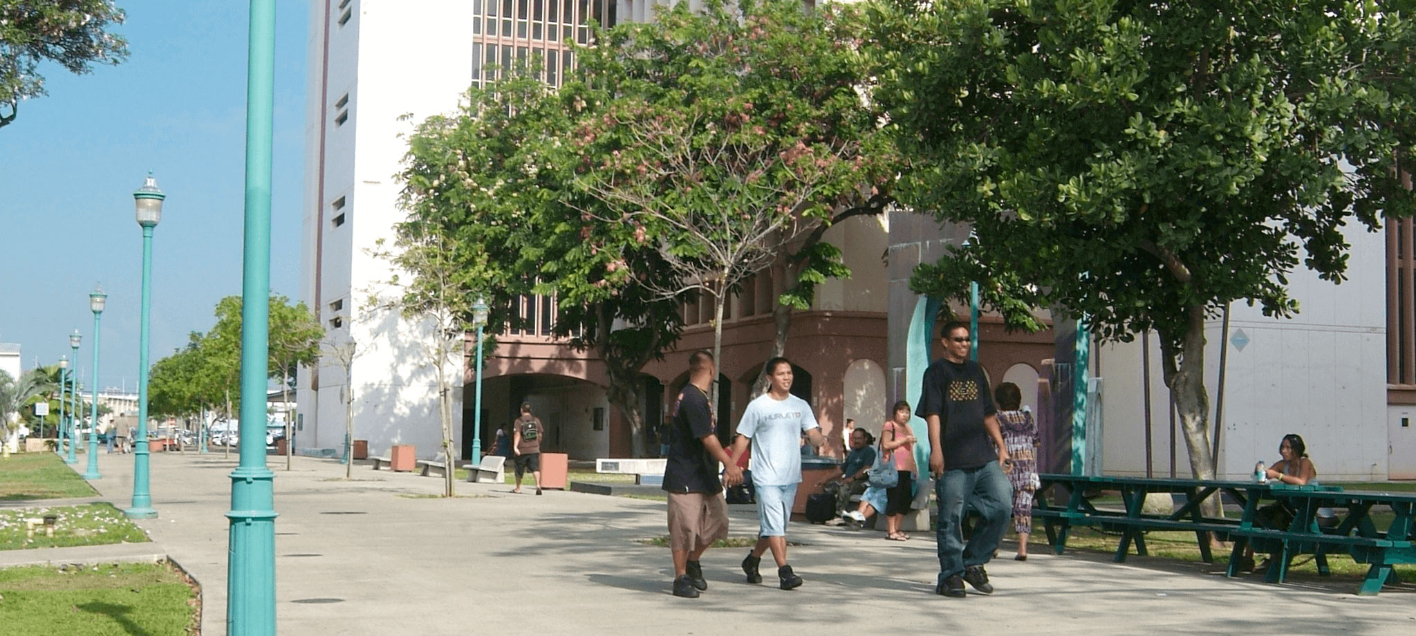 Honolulu Community College Campus Walkway