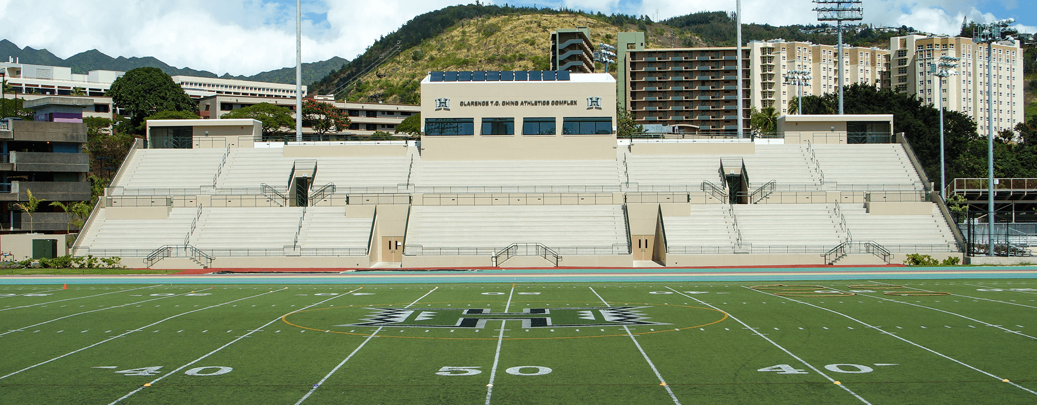 U H Althletics T C Ching stadium complex