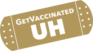 Get Vaccinated UH on a band-aid image which links to vaccination information